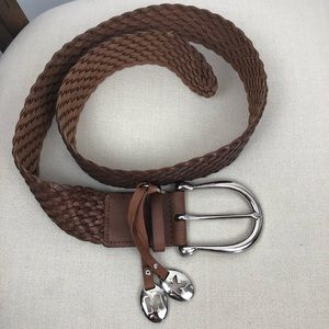 Michael Kors Braided Leather Belt